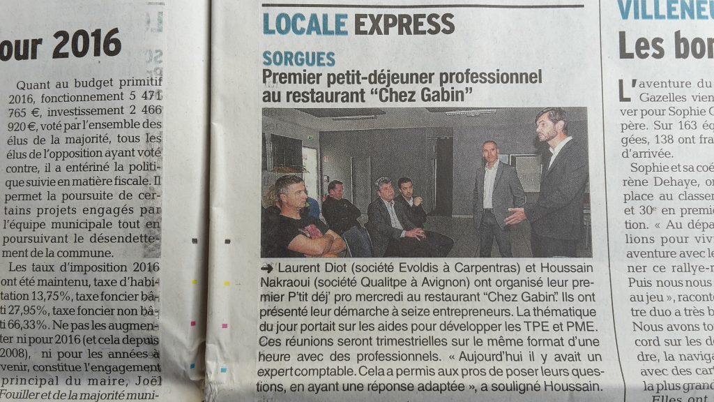 Réunion Réseau Entreprises P'tit DEJ PRO à Sorgues dans le Vaucluse